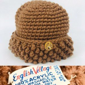 vintage 1960s womens winter toboggan beanie hat